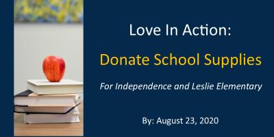 Love in Action, School Supplies